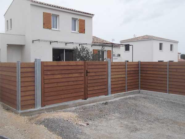 Portail et clôture bois