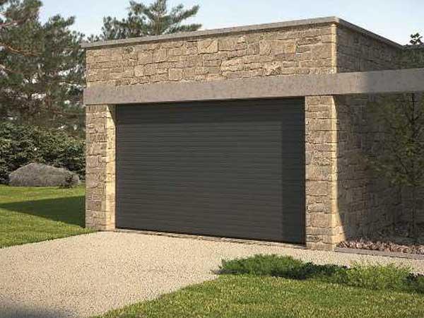 Porte de garage enroulable EXCELIS gris par menuiserie du littoral montpellier