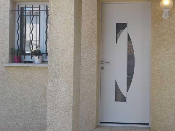 Porte d'entrée Alu blanc CLARINE