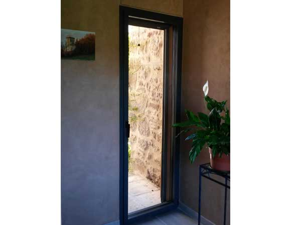 Porte-fenêtre Alu gris anthracite