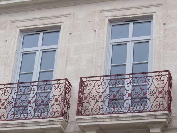 Fenêtre bois avec imposte